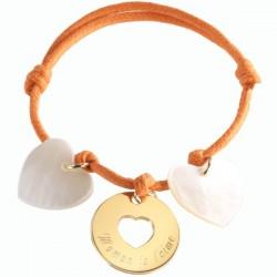 Gold Plated & MOP My Dear Charm Bracelet