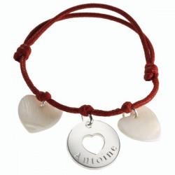 Silver & MOP My Dear Charm Bracelet