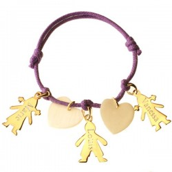 Gold Plated & MOP Cherub Charm Bracelet