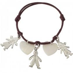 Silver & MOP Cherub Charm Bracelet